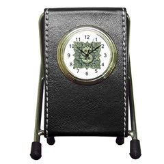Money Symbol Ornament Pen Holder Desk Clocks