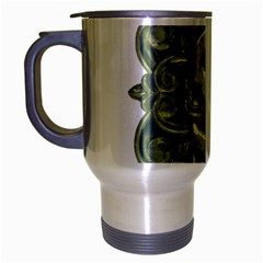 Money Symbol Ornament Travel Mug (Silver Gray)