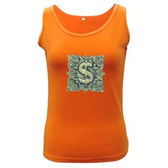 Money Symbol Ornament Women s Dark Tank Top