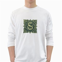 Money Symbol Ornament White Long Sleeve T-Shirts