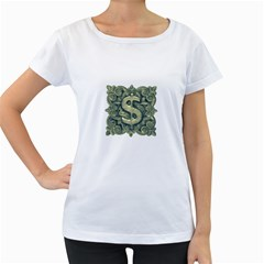 Money Symbol Ornament Women s Loose-Fit T-Shirt (White)