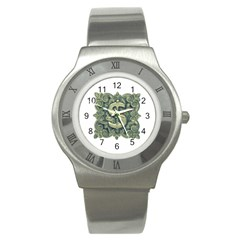 Money Symbol Ornament Stainless Steel Watch