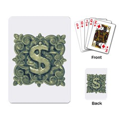 Money Symbol Ornament Playing Card