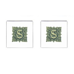 Money Symbol Ornament Cufflinks (Square)