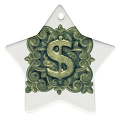 Money Symbol Ornament Star Ornament (Two Sides)