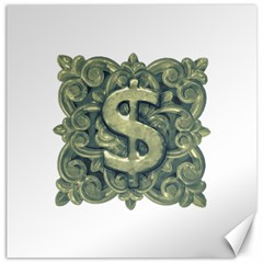 Money Symbol Ornament Canvas 16  x 16