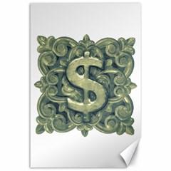 Money Symbol Ornament Canvas 24  x 36
