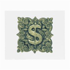 Money Symbol Ornament Small Glasses Cloth (2-Side)