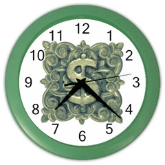 Money Symbol Ornament Color Wall Clocks