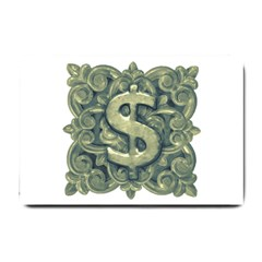 Money Symbol Ornament Small Doormat