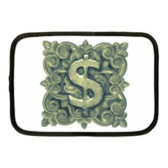 Money Symbol Ornament Netbook Case (Medium)