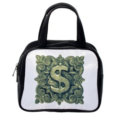 Money Symbol Ornament Classic Handbags (One Side)