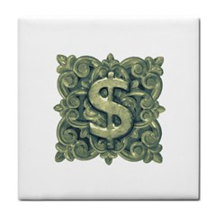 Money Symbol Ornament Face Towel