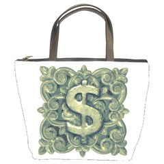 Money Symbol Ornament Bucket Bags