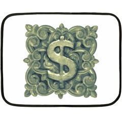 Money Symbol Ornament Double Sided Fleece Blanket (Mini)