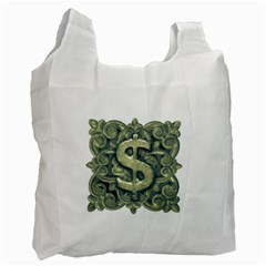 Money Symbol Ornament Recycle Bag (Two Side)