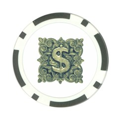 Money Symbol Ornament Poker Chip Card Guard (10 pack)