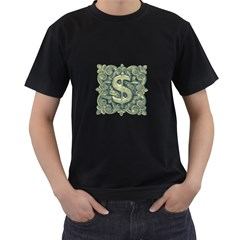 Money Symbol Ornament Men s T-Shirt (Black)