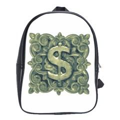 Money Symbol Ornament School Bags(Large)