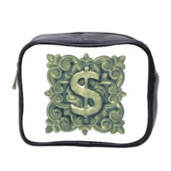 Money Symbol Ornament Mini Toiletries Bag 2-Side