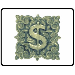 Money Symbol Ornament Fleece Blanket (Medium)