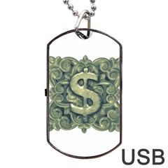 Money Symbol Ornament Dog Tag USB Flash (One Side)