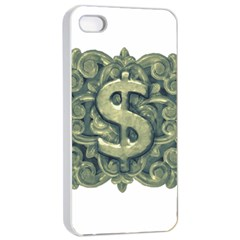 Money Symbol Ornament Apple iPhone 4/4s Seamless Case (White)