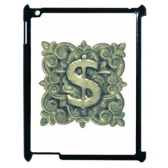 Money Symbol Ornament Apple iPad 2 Case (Black)
