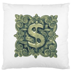 Money Symbol Ornament Large Cushion Case (One Side)