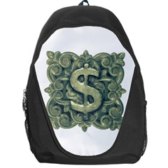 Money Symbol Ornament Backpack Bag