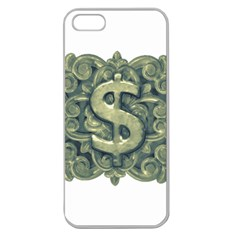 Money Symbol Ornament Apple Seamless iPhone 5 Case (Clear)