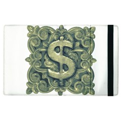 Money Symbol Ornament Apple iPad 2 Flip Case