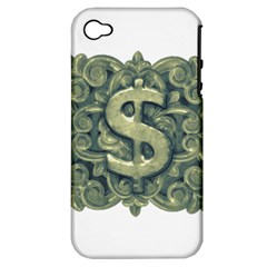 Money Symbol Ornament Apple iPhone 4/4S Hardshell Case (PC+Silicone)