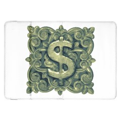 Money Symbol Ornament Samsung Galaxy Tab 8.9  P7300 Flip Case
