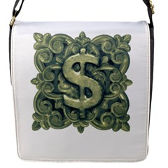 Money Symbol Ornament Flap Messenger Bag (S)
