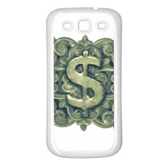 Money Symbol Ornament Samsung Galaxy S3 Back Case (White)