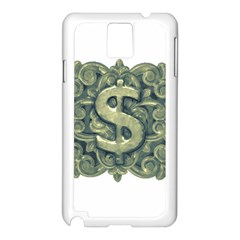 Money Symbol Ornament Samsung Galaxy Note 3 N9005 Case (White)