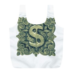 Money Symbol Ornament Full Print Recycle Bags (L)