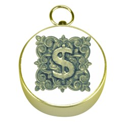 Money Symbol Ornament Gold Compasses