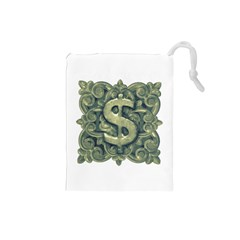 Money Symbol Ornament Drawstring Pouches (Small)