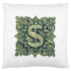 Money Symbol Ornament Large Flano Cushion Case (Two Sides)