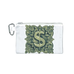 Money Symbol Ornament Canvas Cosmetic Bag (S)