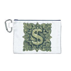 Money Symbol Ornament Canvas Cosmetic Bag (M)