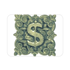 Money Symbol Ornament Double Sided Flano Blanket (Mini)