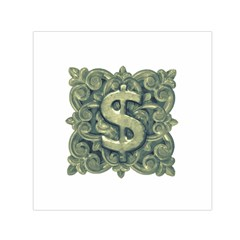 Money Symbol Ornament Small Satin Scarf (Square)