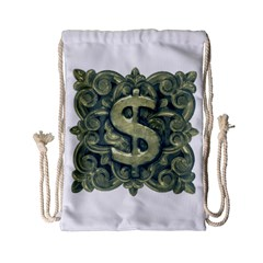 Money Symbol Ornament Drawstring Bag (Small)