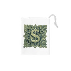 Money Symbol Ornament Drawstring Pouches (XS)