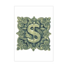 Money Symbol Ornament Small Tapestry