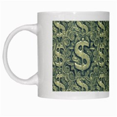 Money Symbol Ornament White Mugs