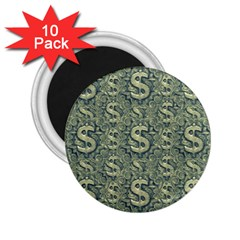 Money Symbol Ornament 2.25  Magnets (10 pack)
